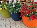 Sackgsund mit Blumen d.35